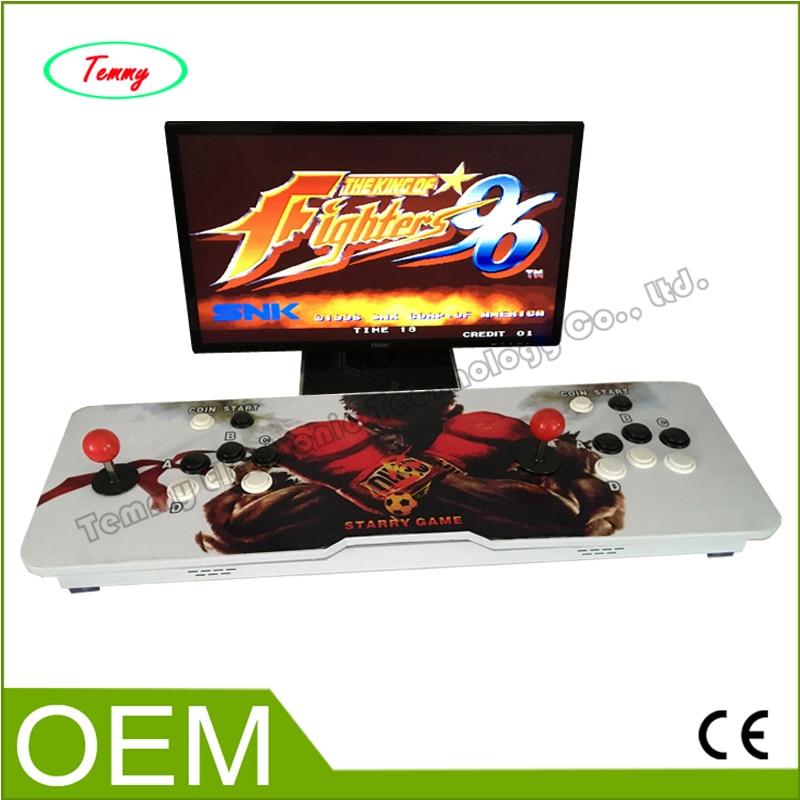 все цены на  2017 Arcade Game Machine Kits double arcade game console with Jamma multi game board Pandora Box 4s 680 games in 1  онлайн