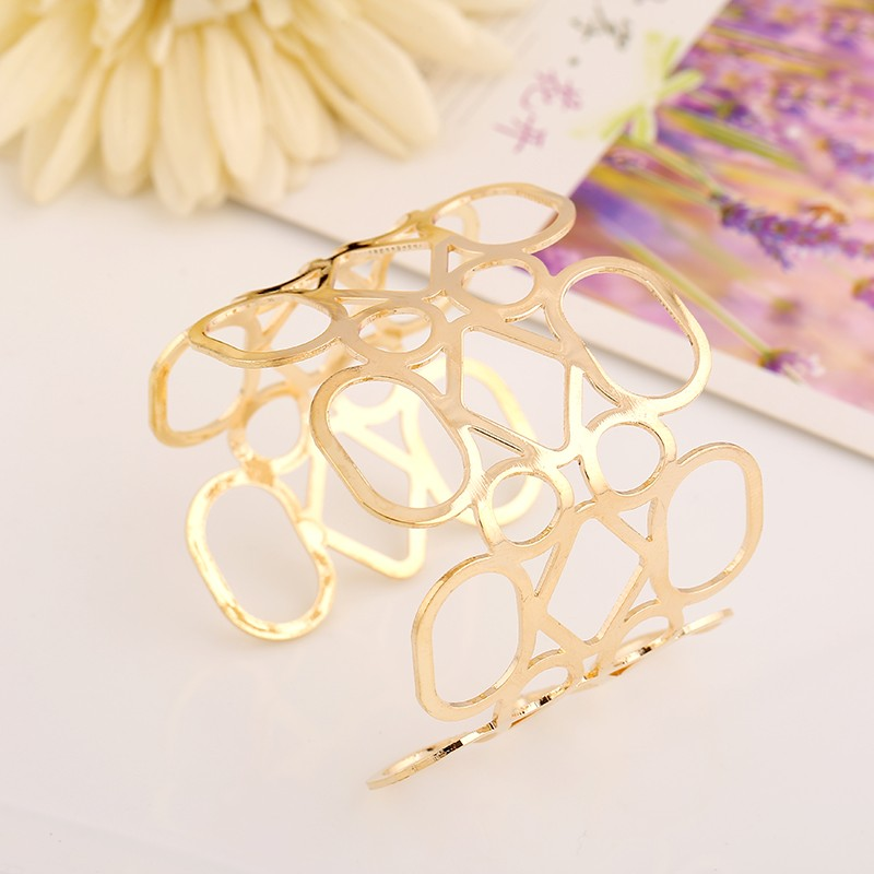 19 Designs Simple Geometric Style Pop Punk Metal Bracelet Bangles - Jbr2*