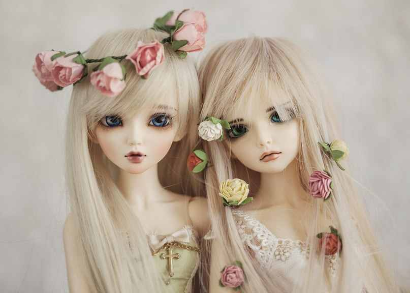 BJD Doll 1/4 Gadis Chloe Double Joint Boneka