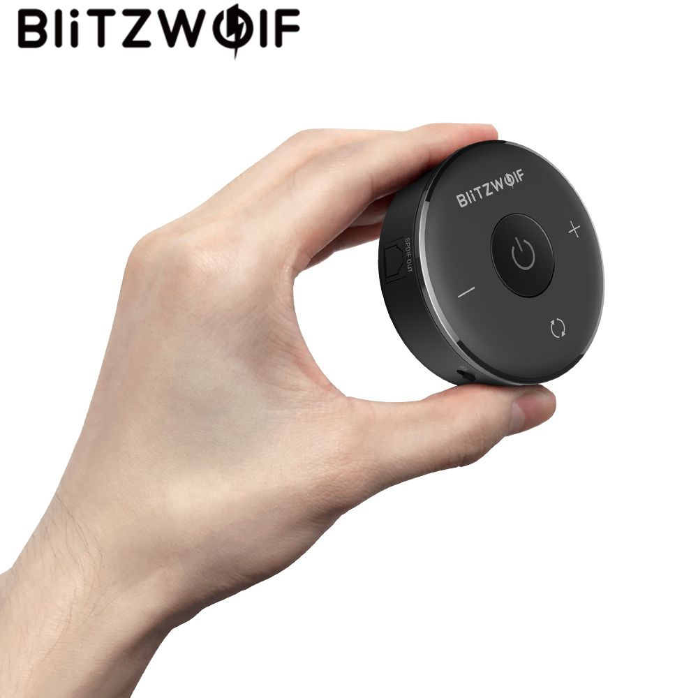 Blitzwolf 4.1 Bluetooth Audio Receiver Transmitter Aptx Bluetooth Adapter for Headphones TV Speakers Wireless Audio mee audio connect bluetooth wireless hifi hd headphone system t1h1 for tv bluetooth wireless audio transmitter and headset