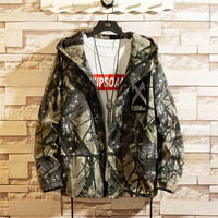 2019 new Spring and autumn men's camouflage Jackets Man Coats Camo Hooded Casual Jacket Man Punk Oversize Clothing clothing