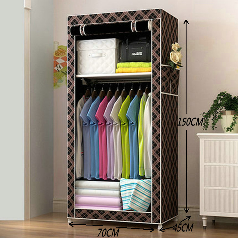 Simple Cloth wardrobe Baby storage cabinets Folding Steel individual small wardrobe the new cloth wardrobe simple reinforcement of low housing assembly large folding cloth