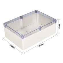 Uxcell New Hot 200x120x56mm Waterproof DIY Junction Box Enclosure Case ABS Plastic 263x182x95mm Outdoor Indoor with Clear Cover стоимость