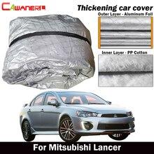 Cawanerl Inner Cotton Car Cover Waterproof Sun Shield Rain Hail Snow Resistant Cover For Mitsubishi Lancer Sedan Sportback Wagon