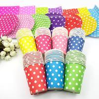 30 Stuks Party Dot Kleur Papier Cups Lade Tissue Meubels Decoratie Set Paper Cups Lade Tissue