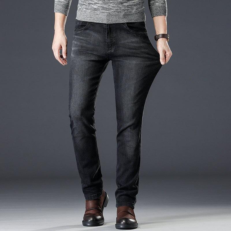 2019 New Slim Thin Black Jeans Mem Fashion Casual Classic Style Elastic Force Skinny Trousers Male Brand Denim Pants