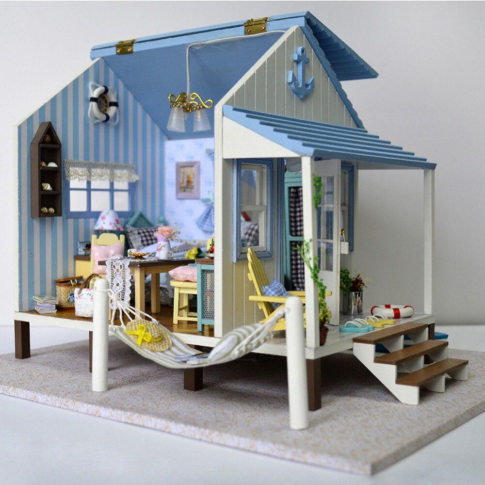 Bricolage maison set décoration bricolage cabine heureux côte chanceux maison Miniature modèle œuvre livraison directe