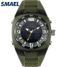 SMAEL Men Watches Military 2017 Alloy Big Dial Sport Watch Waterproof Dive Digital Quartz 1008 Men's Wristwatch Clock Men Army