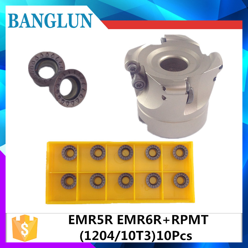 EMRW 5R 50 22 4T EMRW 5R 63 22 4T EMRW 5R 80 27 5T EMR 5R 100 32 6T face mill milling cutter cnc milling tools for round inserts mitsubishi 100% mds r v1 80 mds r v1 80