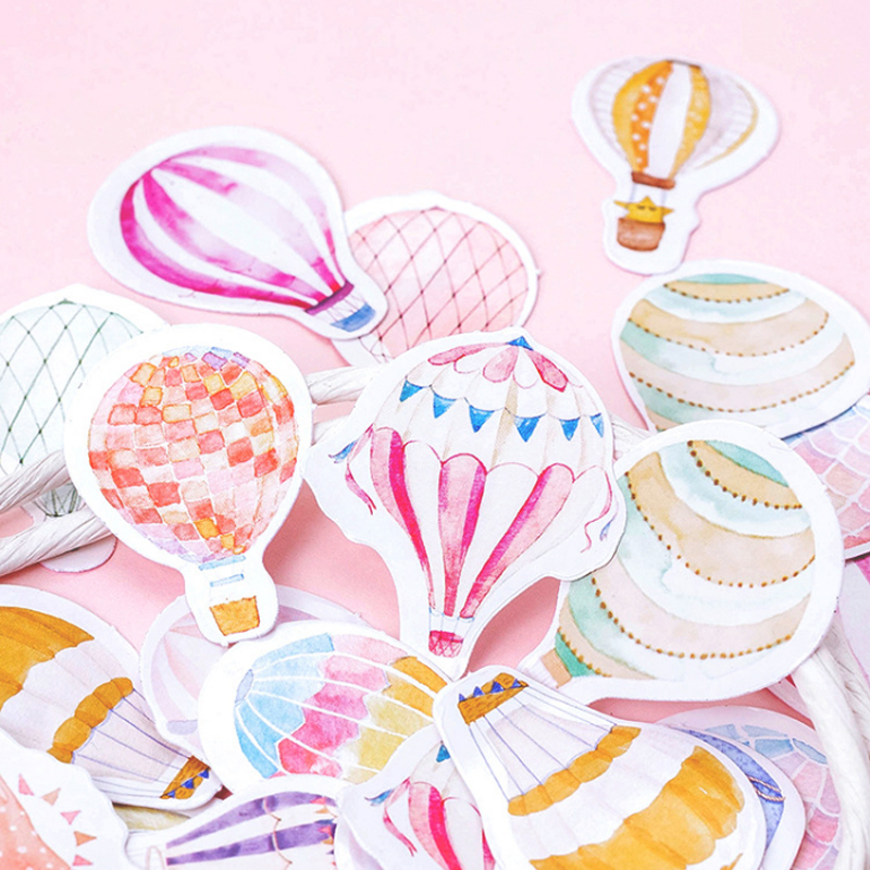 Купить с кэшбэком 45pcs/box Beautiful balloon paper sticker Decoration diy Scrapbooking Sticker kawaii diary label sealing stickers