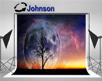 landscape full moon tree photography studio background Vinyl cloth High quality Computer print wall backdrops