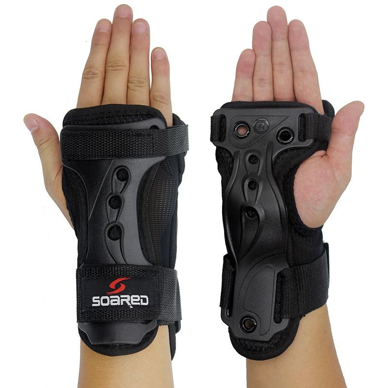 1 Paar Einstellbare Snowboarden Handschuhe Handgelenk Unterstützung Skating Palm Pflege Panzerhandschuhe Schutz Getriebe Ski Wache Pad Brace Exquisite (In) Verarbeitung