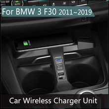 10W Wireless Fast Charger For BMW 3 F30 2011~2019 iphone Android Phone Car Charging Qi Plug and plag Accessories