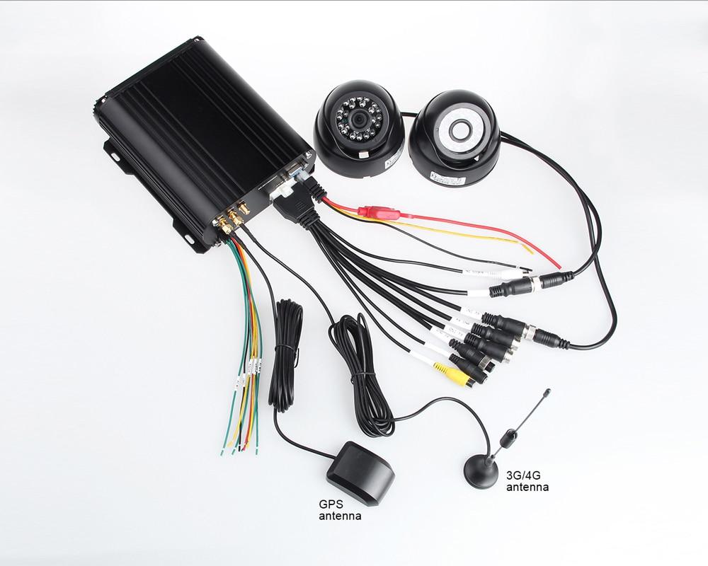 Pulsuz Göndərmə 4Pcs IR Night Vision Vehicle Camera + 4CH 4G LTE - Avtomobil elektronikası - Fotoqrafiya 5