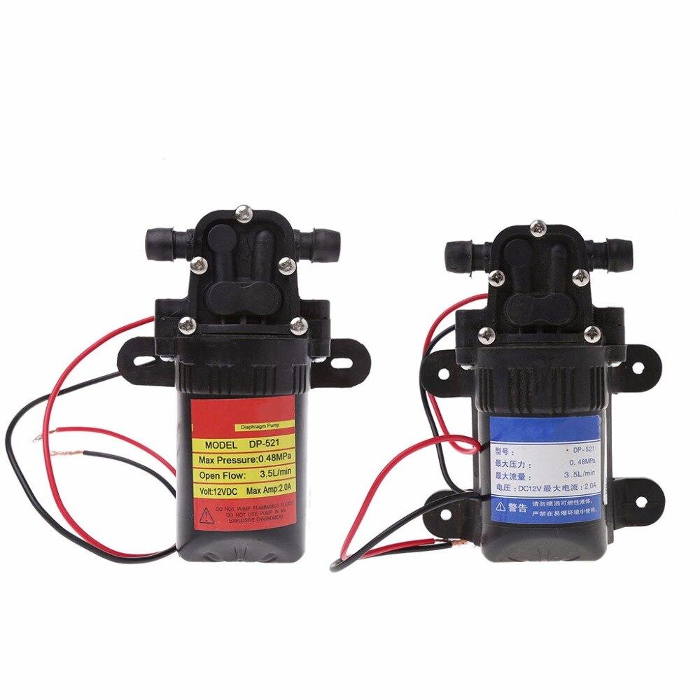 Dc 12 V 3.5l/min 0.48mpa 70 Psi Membran Hohe Druck Selbstansaugende Wasser Pumpe Sanitär Heimwerker