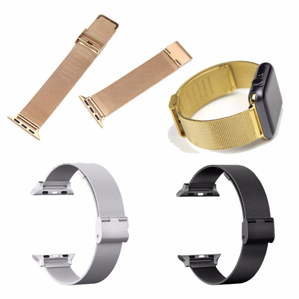Für Apple Uhr Mesh Milanese Magnetische Schleife Edelstahl Armband Armband Ersatz Band Armband für Apple Uhr Serie 3/2