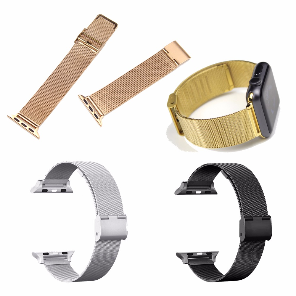 For Apple Watch Mesh Milanese Magnetic Loop Stainless Steel Bracelet Strap Replacement Band Wristband for Apple Watch Series 3/2