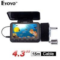 Eyoyo Original F06 15MDVR Fish Finder 15m 4 3 LCD Underwater Fishing Camera Kit Ice Lake