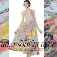 2016 Sprzedaż Wosk Drukuje Afrykańskie Tkaniny Tissus Silk Georgette Shun Yu Drukarnie Sukienka Odzież Tkaniny Tkaniny Nad Stany Zjednoczone