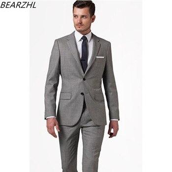 size 40 8e64d 7f1bd Bräutigam hochzeit anzug grau smoking für männer anzüge formal wear 2019  wolle bluten kleid