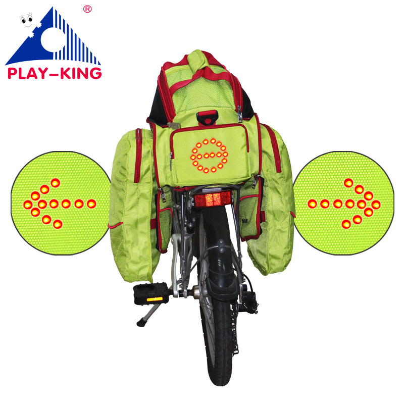 Cycling Bicycle Turn Signal Bicycle Carrier Bag Wireless Safety Turn Signal Saddle Bag For Riding Night Warning Guide Light generic 2 3 5l bicycle saddle bag cycling rear bag