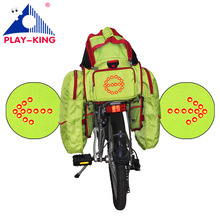 Cycling Bicycle Turn Signal Bicycle Carrier Bag Wireless Safety Turn Signal Saddle Bag For Riding Night Warning Guide Light