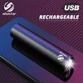 Leistungsstarke LED Taschenlampe Wiederaufladbare lange-palette Taschenlampe Super helle kleine notfall licht Kann verwendet werden als power Bank