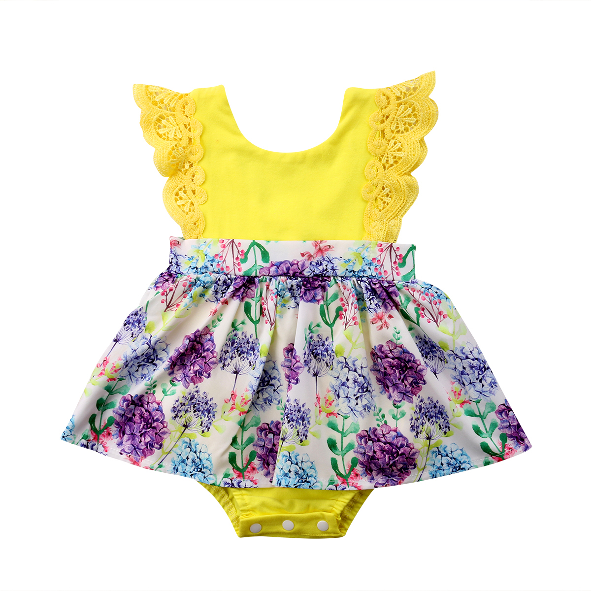 9c0acc352d65 Newborn Baby Girl Clothes Sister Matching Floral Jumpsuit Romper Dress  Ruffles Outfit Set Clothing Baby Girls 0-6T