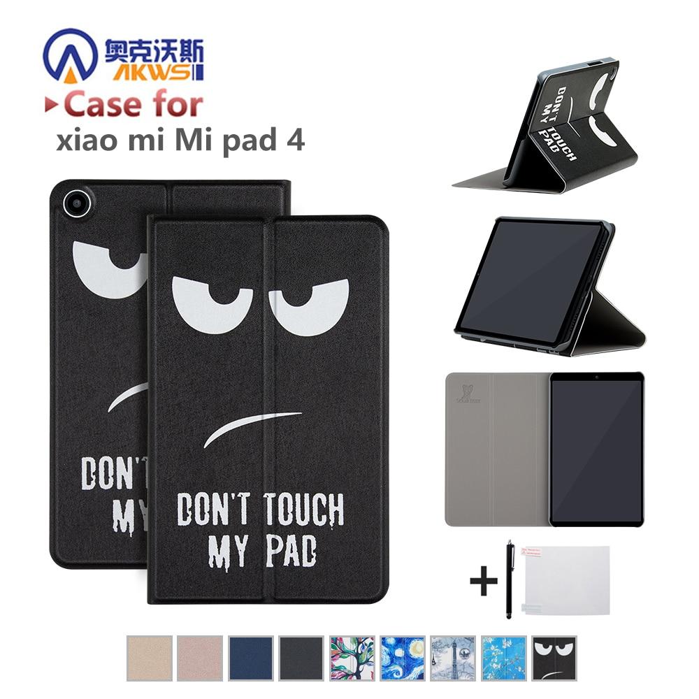 the best attitude 6de8f 574de Smart Funda Cover Case For Xiaomi Mi Pad 4 Tablet Pc PU Leather Flip Cover  MIPAD 4 Wifi LTE 32/64GB