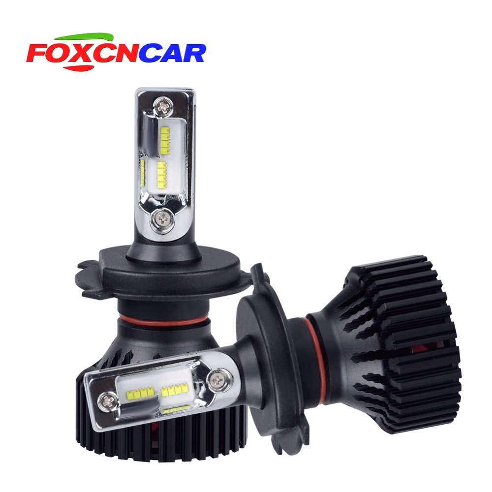 FOXCNCAR H4 H7 LED Phare Ampoules H11 9005 9006 headlight 12 v 24 v 60 W 8000 LM 6500 K Voiture Led Auto Phare Phares Fog lights