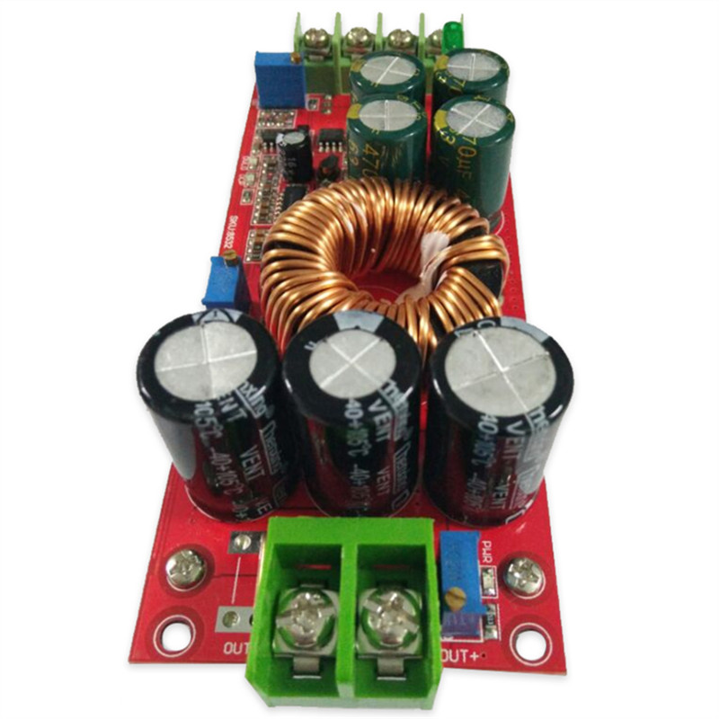 1200W Boost Module 20A DC DC step up Converter Boost Power supply Module 8V-60v TO 8V-80V Booster converter board