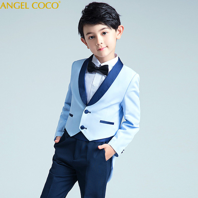 cfda23a5cdfc7 Children S Small Suit Spring Boys Tuxedo Baby Birthday Suits Fashion Flower  Girl Dress Costume Garcon Boys Suits For Weddings