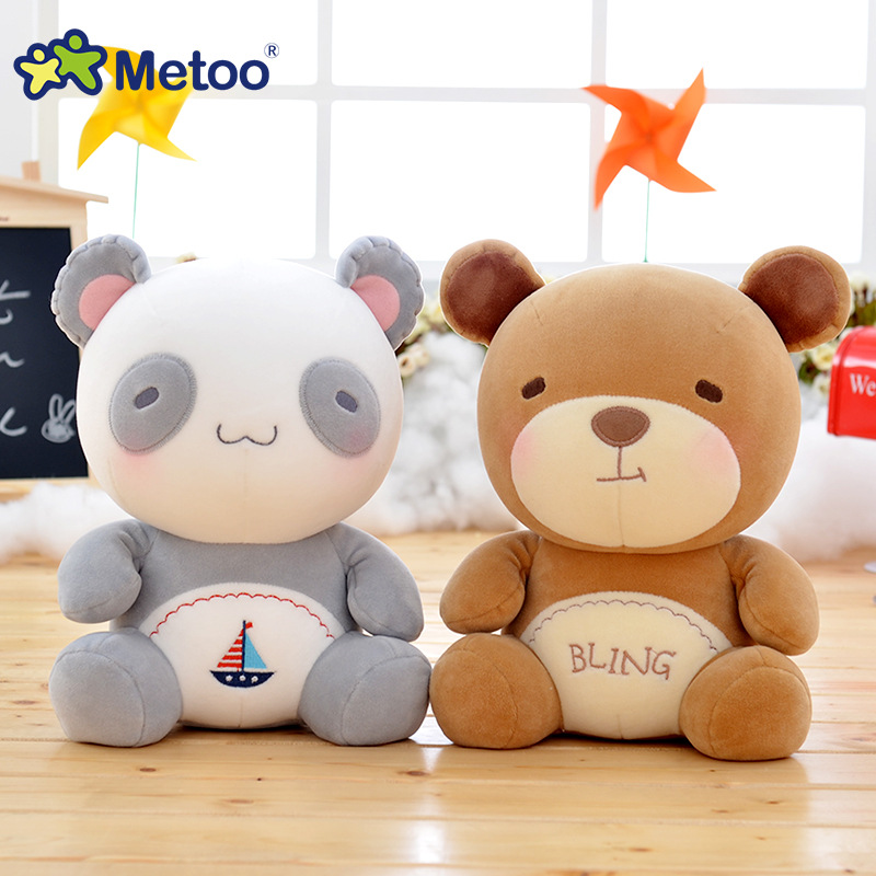 Metoo Brand Sweet Panda Bear Stuffed Dolls Baby Kids Toys for Girls Birthday Christmas Gift  Metoo  Health Soft Plush Doll largest size 95cm panda plush toy cute expression panda doll birthday gift w9698