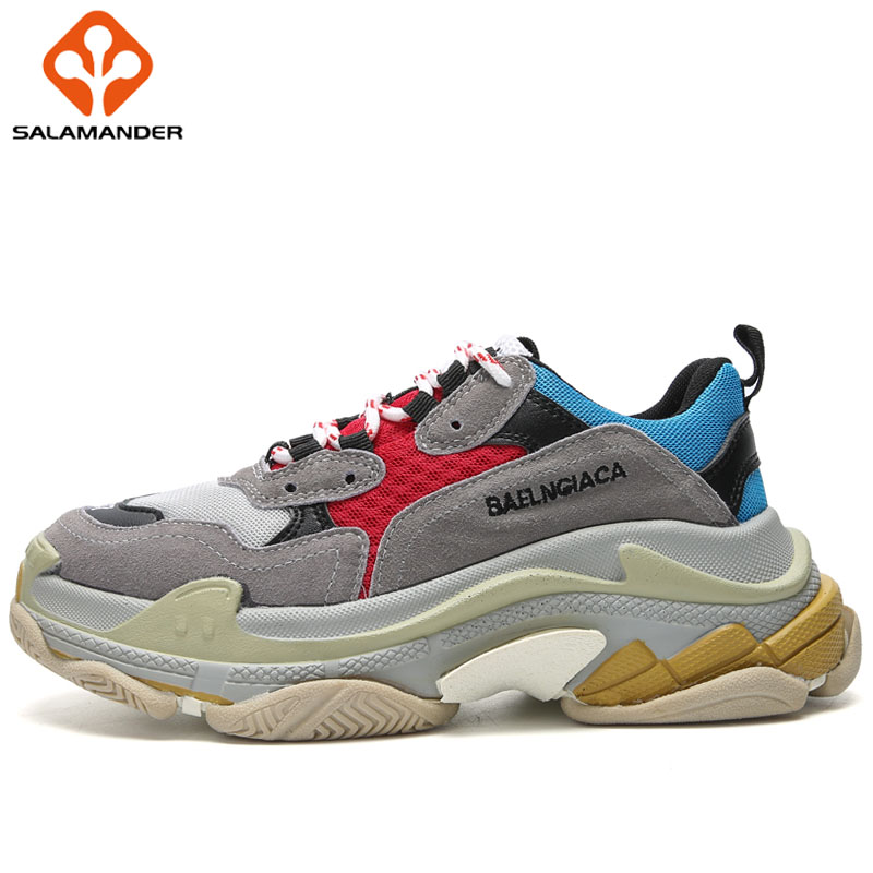 SALAMANDER Lovers 2018 Men Running Shoes Outdoor Athletic Sports Run Woman Brand Breathable Womens Sneakers Sport Shoes For Men msstor women running shoes woman brand summer breathable sport shoes for men outdoor athletic lovers men running shoes sneakers