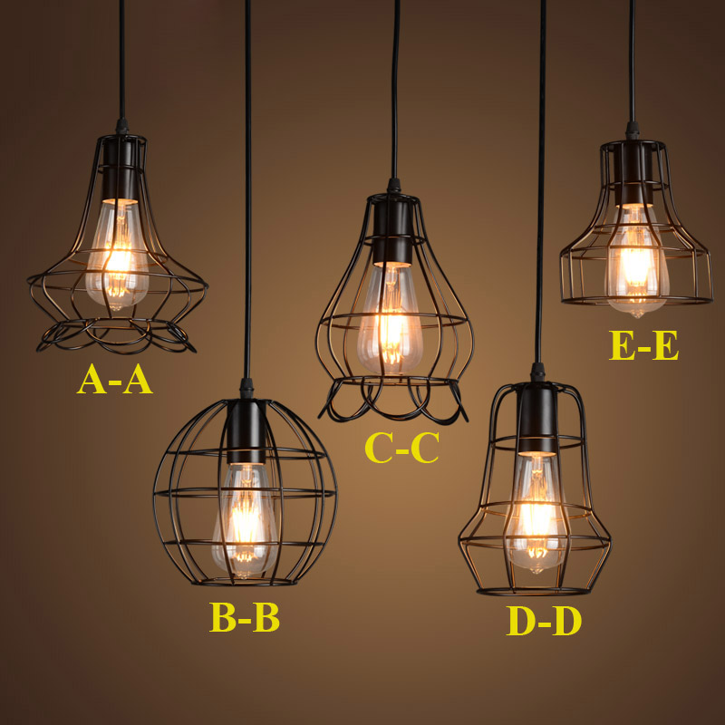 Retro Pendant Lights Vintage Country Lamps Ediosn Small Light for Restaurant Bar Art Decoration Lighting E27 AC85-265V