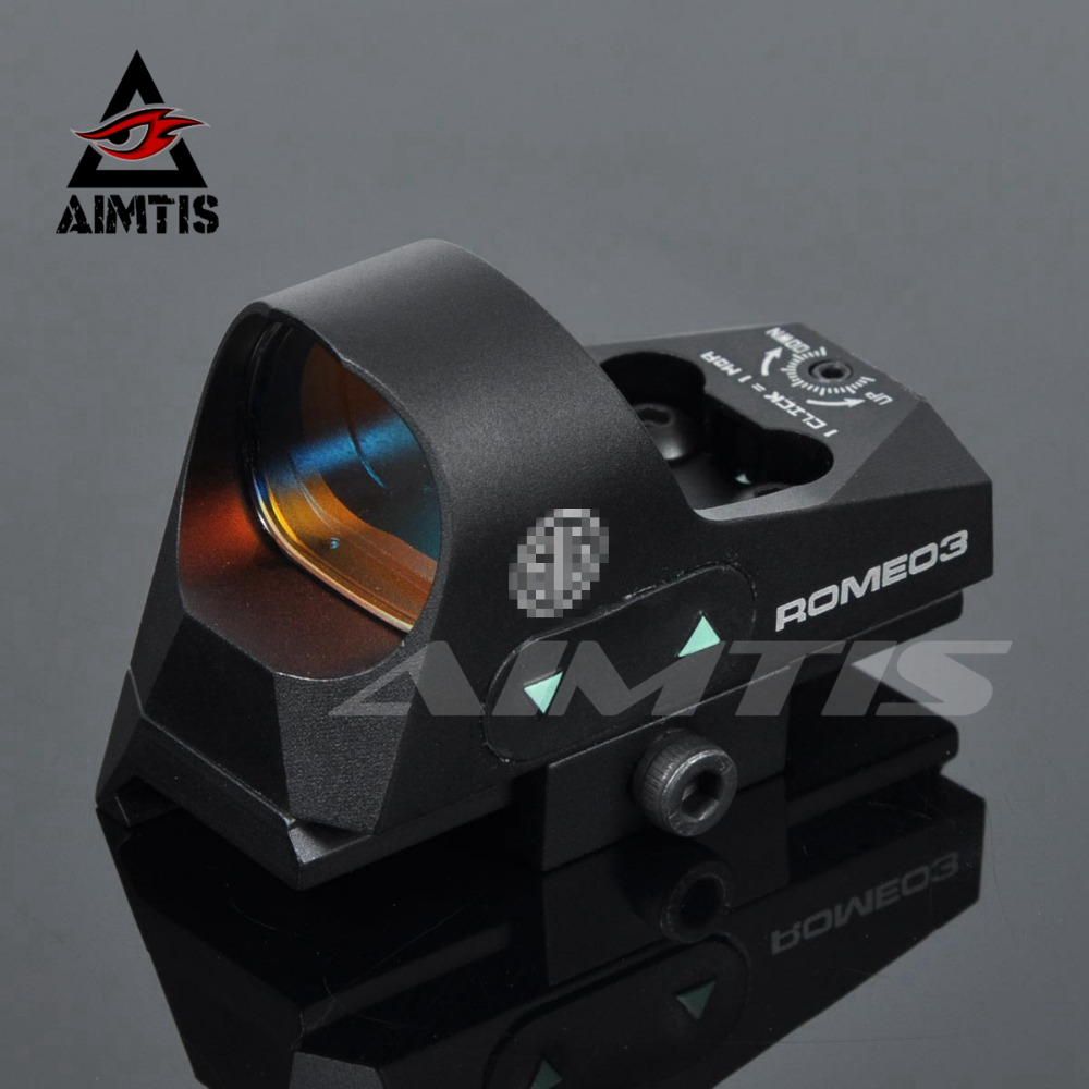 AIMTIS Tactical Red Dot Sight ROMEO3 1x25 Mini Reflex Sight 3 MOA Dot Scope Picatinny QD Mount for Hunting Rifles Carbines tactical 1x red dot sight scope qd picatinny rail mount hunting shooting black 558 m7101