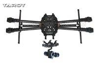 Таро fy650 ЖЕЛЕЗНЫЙ ЧЕЛОВЕК 650 Quadcopter углеродного Волокно трубы MultiCopter frame tl65b02 w/GoPro 2 aixs Gimbal ж/гироскоп TL68A00