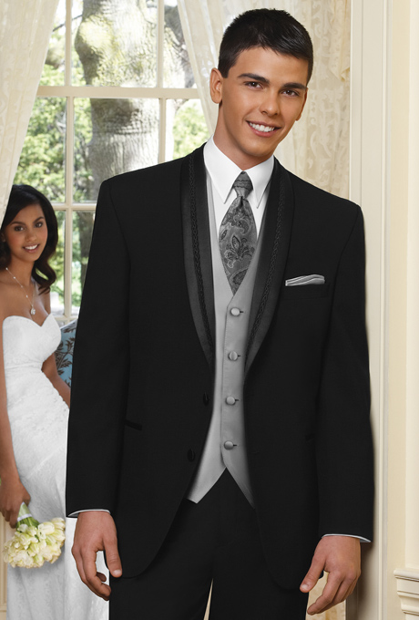Custom Made Groom Tuxedo Groomsmen Shawl Lapel Wedding/Dinner/Evening Suits Best Man Bridegroom (Jacket+Pants+Tie+Vest) B157