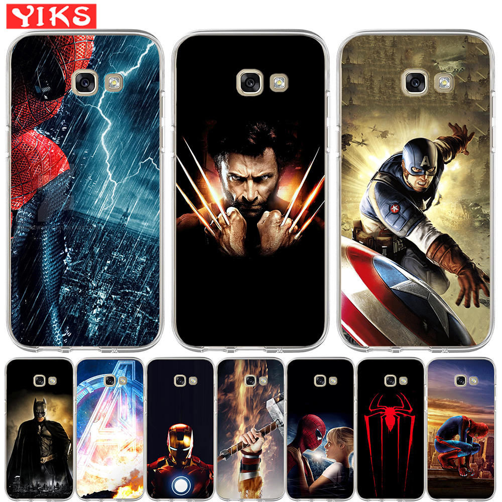 Luxury Marvel Heros Soft Silicone Phone Case For Samsung A3 A5 A6 A7 A8 2015 2016 2017 Plus 2018 Case Avengers Cover Hoesjes чехлы марвел