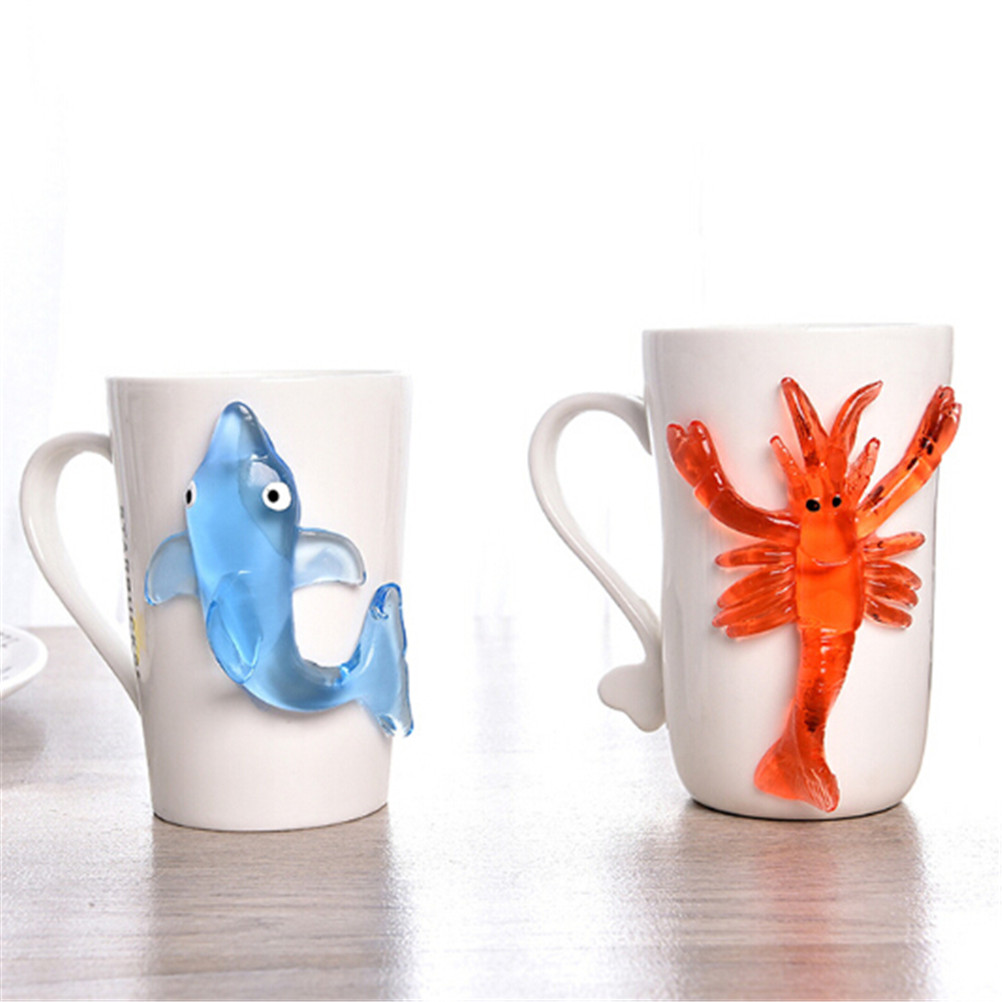 Cute Soft Material Decompression Starfish Octopus Shark Toy Sticky Marine Animal Toys For Children'day Gift