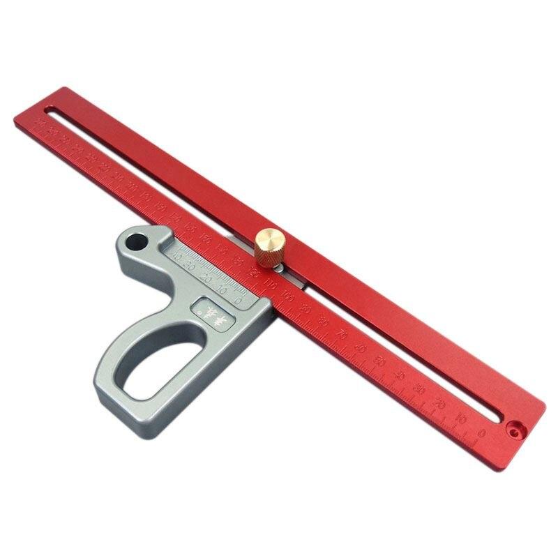 ELEG-fengsen Aluminum Alloy Crossed Ruler Woodworking Scriber Woodworking Ruler