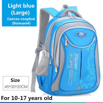 2020 hot new children school bags for teenagers boys girls big capacity school backpack waterproof satchel kids book bag mochila - Large-Light blue