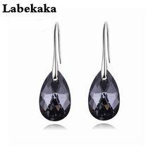Labekaka серьги-капли воды женские модные оригинальные украшенные кристаллами от Swarovski Pendientes праздничные вечерние подарки
