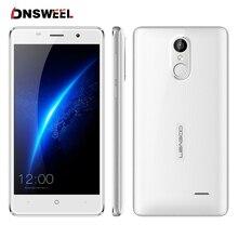 Leagoo M5 3 г мобильный телефон 5.0 «1280×720 MT6580 Quad Core Смартфон Android 6.0 2 ГБ + 16 ГБ 8.0MP 2300 мАч отпечатков пальцев ID бесплатный подарок