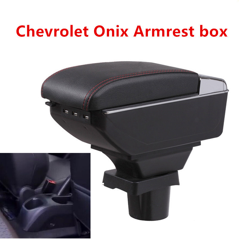 For chevrolet onix armrest box USB Charging heighten Double layer central Store content cup holder ashtray accessories   For chevrolet onix armrest box USB Charging heighten Double layer central Store content cup holder ashtray accessories