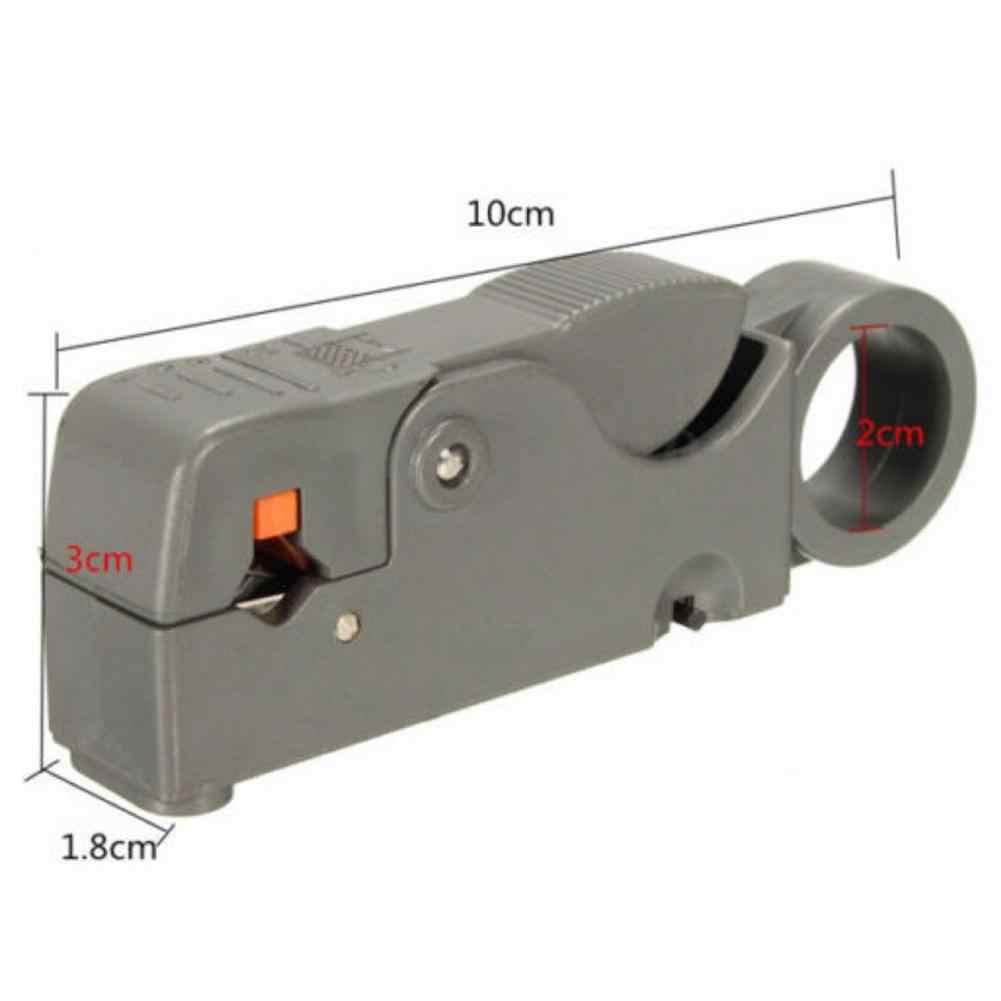 LanLan koncentryczny ściągacz do przewodów szczypce do ściągania izolacji nóż praktyczne narzędzie elektryka do ściągania izolacji z kabli narzędzie do zaciskania