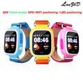 Красочные сенсорный экран дети gps Трекер GPS Малыш Позиционирования WIFI smart watch Q90 SOS Smartwatch для IOS Android Потерянный Монитор