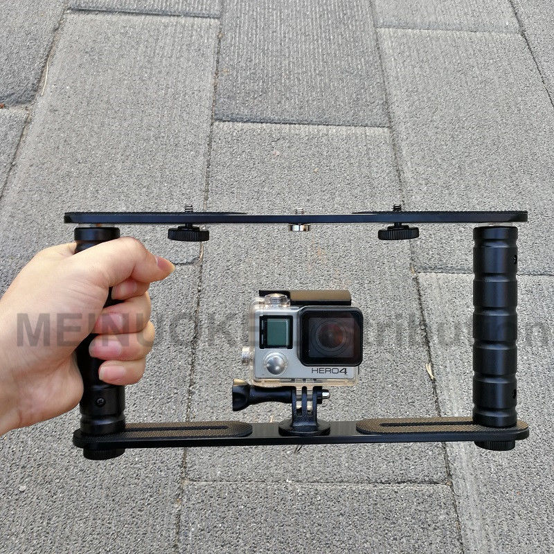 Dual Arm Scuba Diving Dive Bracket Flashlight Tray Stabilizer Mount for Sony Gopro SJCAM Action Camera