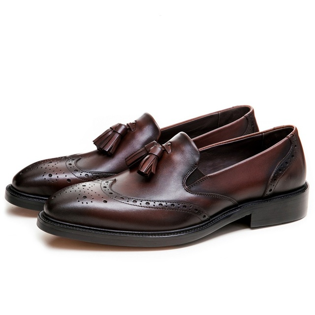 Men Genuine Leather Formal Shoes