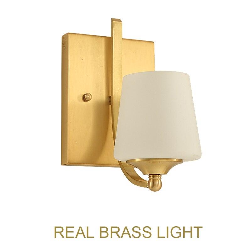 Modern copper brass wall light lamp sconce foyer living bed room golden bronze LED wall lamp